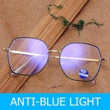 MARC Anti Blue Light Glasses Frame Men Women Brand Vintage Design Clear computer Male Metal Spectacle Frames Black Eyewear