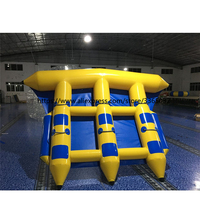 Inflatable flying fish towable / fly fish water sports / inflatable flying fish tube towable