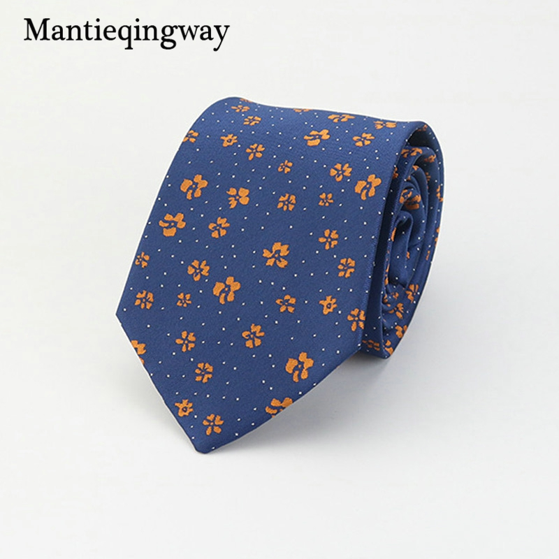 Mantieqingway Brand Ties Men Polyester Ties Floral Gravata for Mens Polka Dots Business Ties Bridegroom Paisley Men Neck Ties