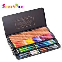 120 набор цветных карандашей масляные цветные карандаши подарочный набор художественный Рисунок металлическая Оловянная коробка высококач
