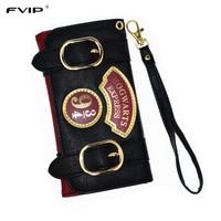 FVIP Harry Potter Hogwarts Express 9 3 4 Platform Vintage Long Wallet For Women With Card