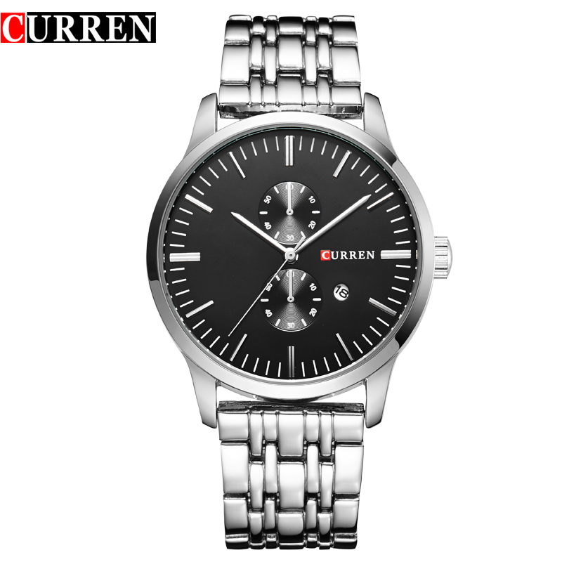 CURREN Mens Sports Watches Men Luxury Brand Quartz Men Wristwatches Stainless Steel Casual Watch Relogio Masculino Clock hombre mens watches top brand luxury curren men full stainless steel analog date quartz casual watch wristwatches relogio masculino
