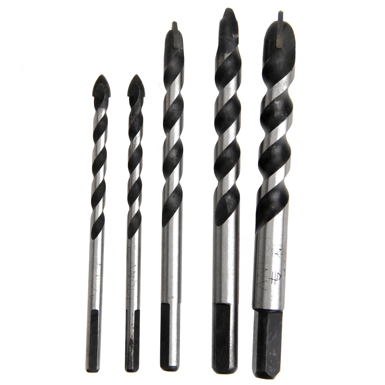 5Pcs Drywall Tungsten Carbide Drill Bit Set for Wood Ceramic Tile ...