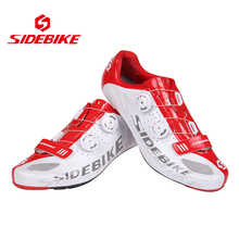 SIDEBIKE Lightweight Carbon Fiber Soles Highway Road Bike Racing Shoes Bicycle Cycling Shoes Professional Self-Locking Sneaker
