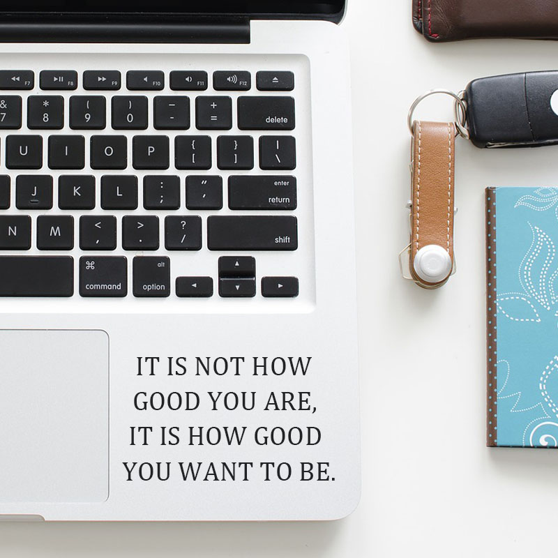 Daily Self-motivation Inspired Quote Trackpad Decal Laptop Sticker for Macbook Pro Air Retina 11 12 13 15 inch Mac Touchpad Skin
