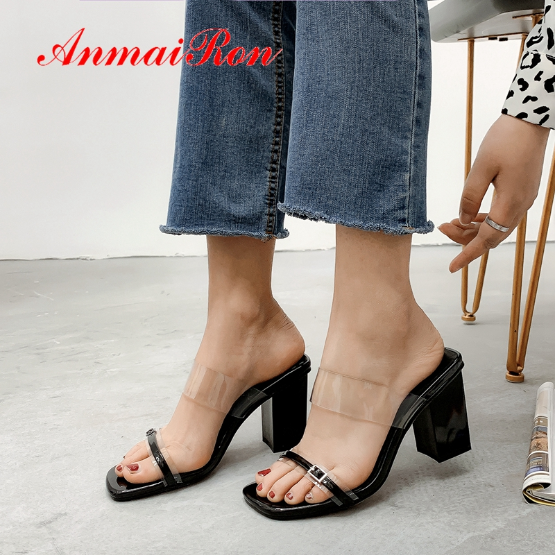 ANMAIRON 2019 New Arrival  Genuine Leather Women High Heel Slippers  Solid  Summer  Outside  Women Shoes Size 34-39 LY2241ANMAIRON 2019 New Arrival  Genuine Leather Women High Heel Slippers  Solid  Summer  Outside  Women Shoes Size 34-39 LY2241