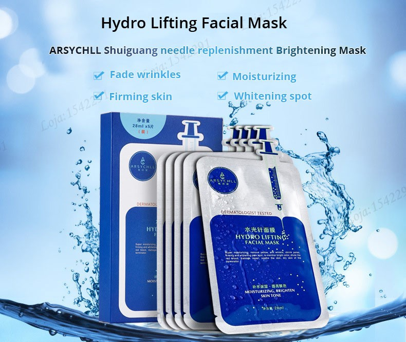 Hyaluronic acid natural silk moisturizing facial masks woman cleansing purifying pores acne whitening face skin care beauty mask 9