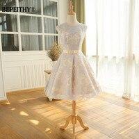 Cheap Short Girls Homecoming Dresses For Party Vestido De Festa Lace Vintage Graduation Dress With Belt