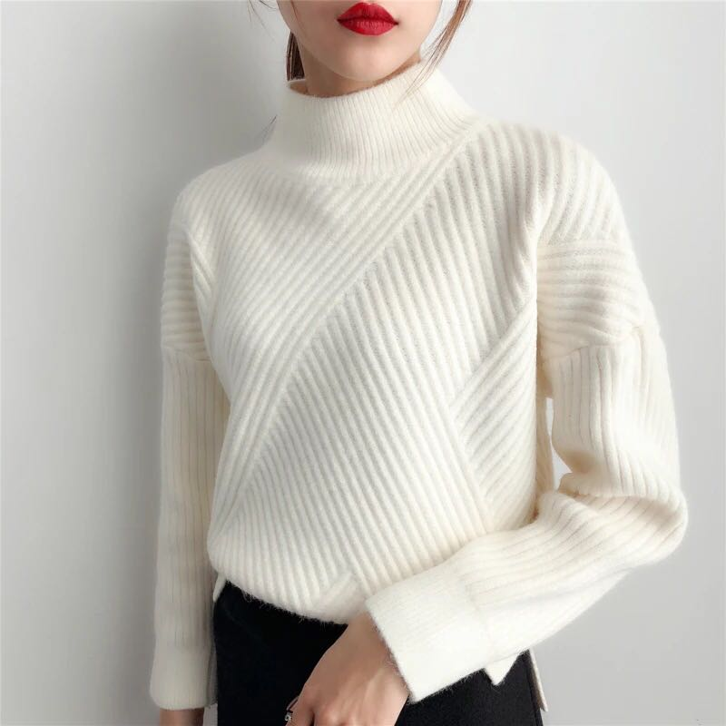 Thick Turtleneck Cashmere Sweater Women 2020 Autumn Winter Knitwear Clothes Tricot Jumper Pull Femme Streetwear Pullover