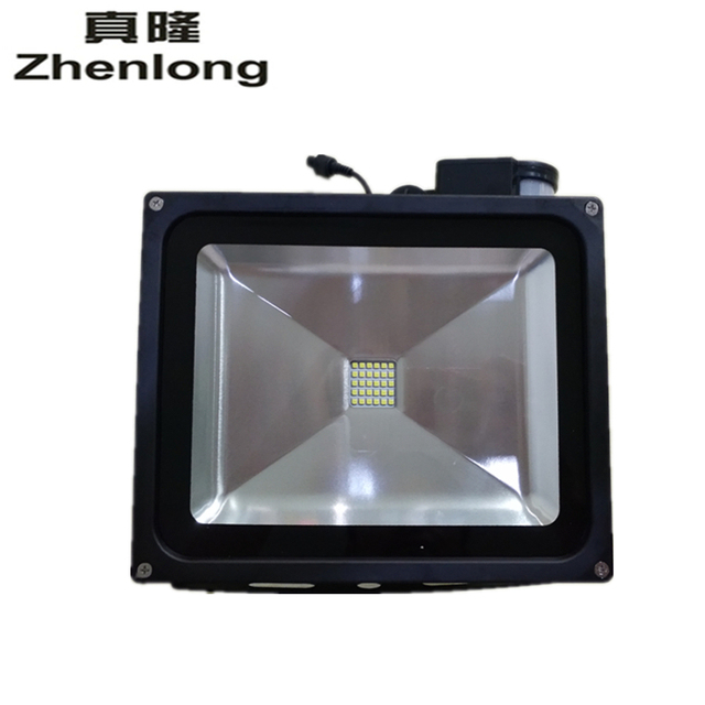 Zhenlong 10W 20W 30W 50W panneau solaire LED sécurité dinondation lumière solaire de jardin PIR capteur de mouvement chemin projecteur infrarouge extérieur