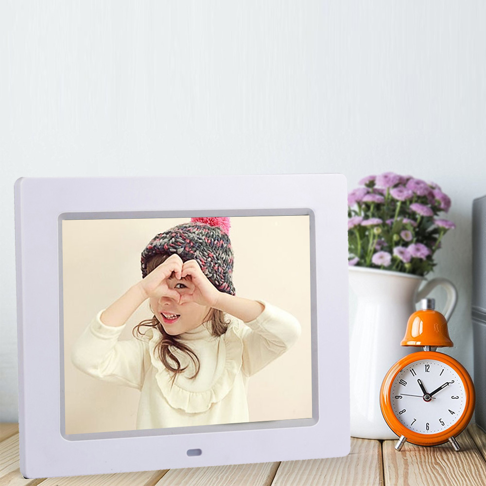portable multifunction hd led lcd screen digital photo frame picture video audio calendar clock functions desk