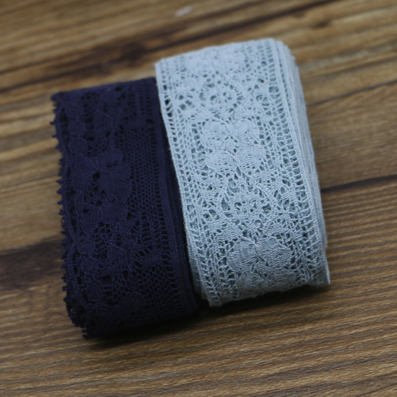 DIY handmade lace accessories cotton cloth lace cotton lace lace wave wide3cm