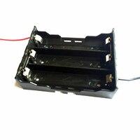 Серии цепи три 18650 Батареи чемодан держатель Box для 3.7 В 18650 Перезаряжаемые литиевых Батарея с 2 Кабели