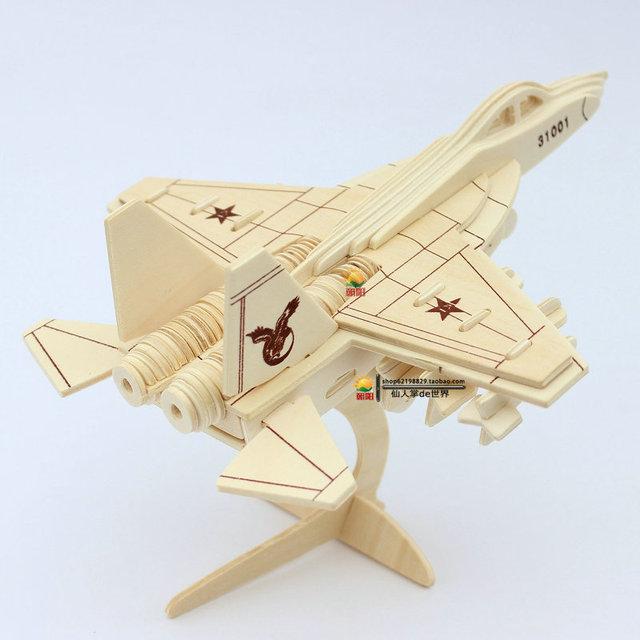 Annihilates-31-истребитель 3D модель самолета деревянные головоломки ручной Самолет деревянный самолет Малыш плоскости головоломки для детей