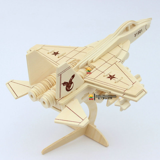 Annihilates-31 - fighter 3D plane model wooden puzzles handmade Airplane wooden aircraft Kid plane puzzle for children