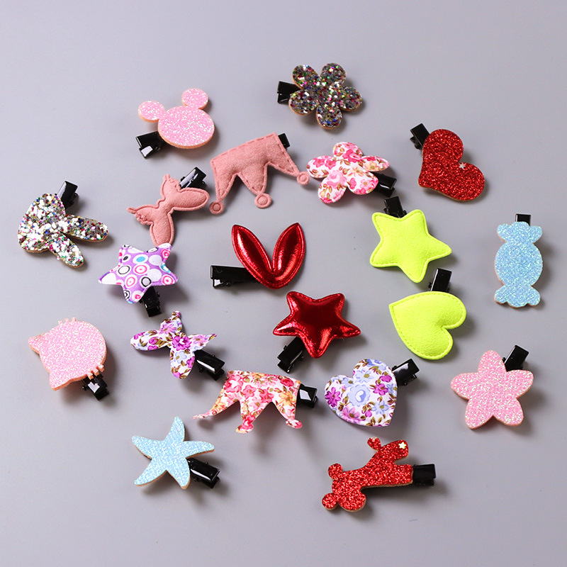 20pcs/bag girl hair accessories cute princess crown hair clip hairpins thumb hair bands gum children hair ornaments rubber band halloween party zombie skull skeleton hand bone claw hairpin punk hair clip for women girl hair accessories headwear 1 pcs