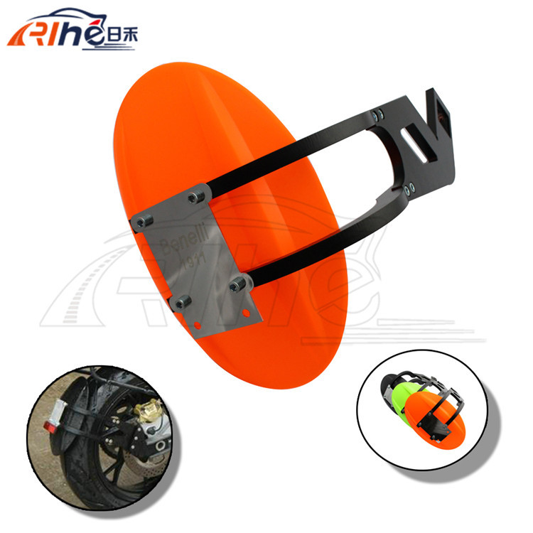brand new hot selling orange color motorcycle cnc aluminum mudguard fender motorcycle rear fender 3 colors for benelli BN300 600 motorcycle front mudguard benelli blade bj150t 10c