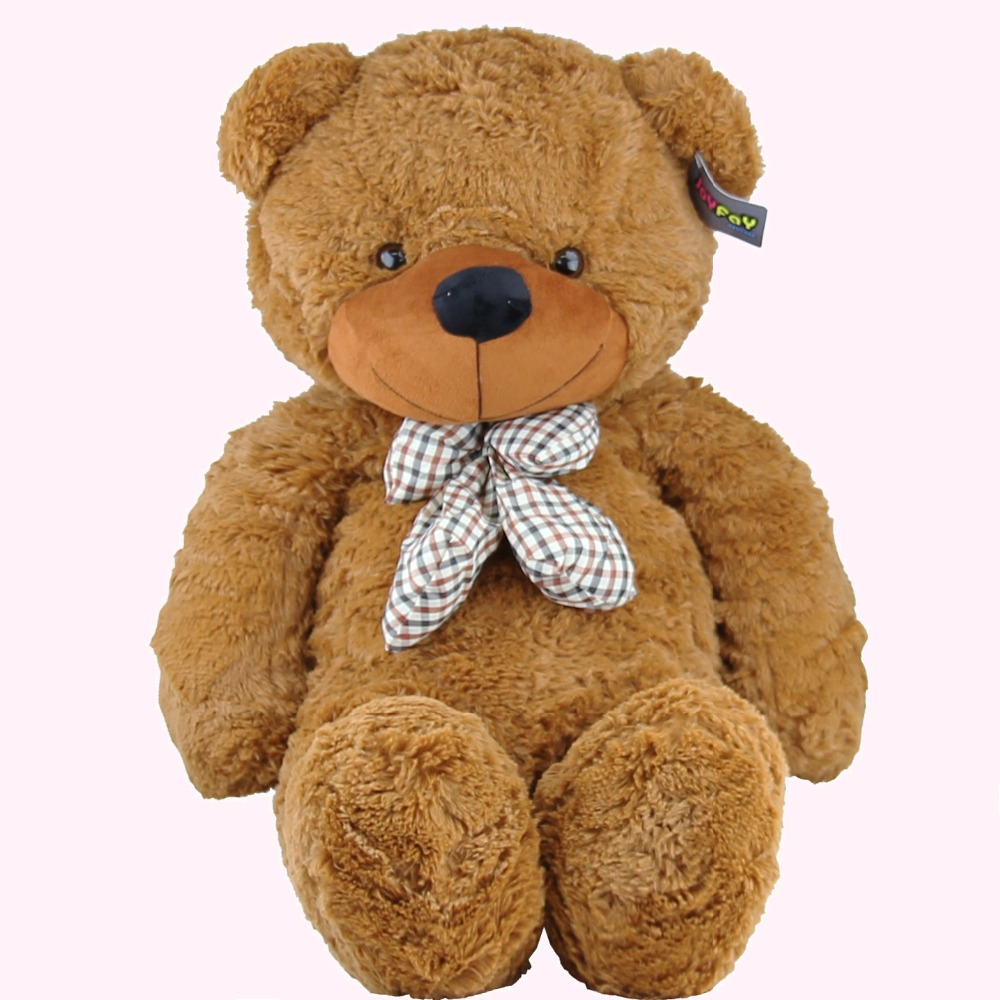 Joyfay 39 Inch 100cm Brown Giant Teddy Bear Giant 1m Huge Stuffed Plush Toy Big Soft Bear Best gift for Birthday Valentine's Day 260cm super giant stuffed teddy bear big large huge brown plush stuffed soft toy kid children doll girl christmas gift