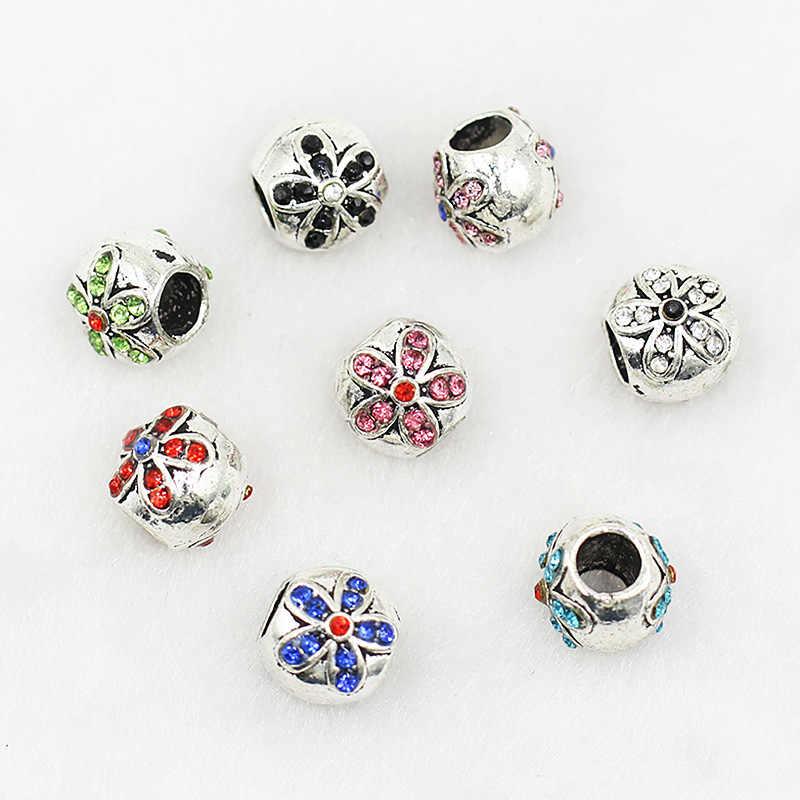 Dora DIY accesorios Margarita punto perforación grandes agujeros de cuentas pulsera cuentas accesorios hermosas flores