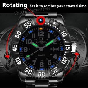 Image 3 - Top brand luxury tritium luminous quartz watch men waterproof sports men watches full steel clock tritium light uhren damen saat