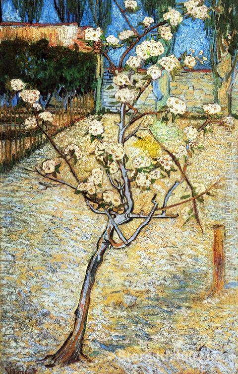 Art moderne poire arbre en fleur par Vincent Van Gogh reproduction peintures peintes à la main de haute qualité