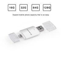 Dr.Memory 2 in 1 OTG USB Flash Drives For iPhone 5/5s6/6S/7/ipad 128GB USB 3.0 Memory Flash Stick Mini 64GB For Apple Pen Drive