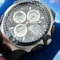 Venta al por mayor OHSEN Multifunción Negro Rubber Band Sports Reloj Para Hombre DIVER