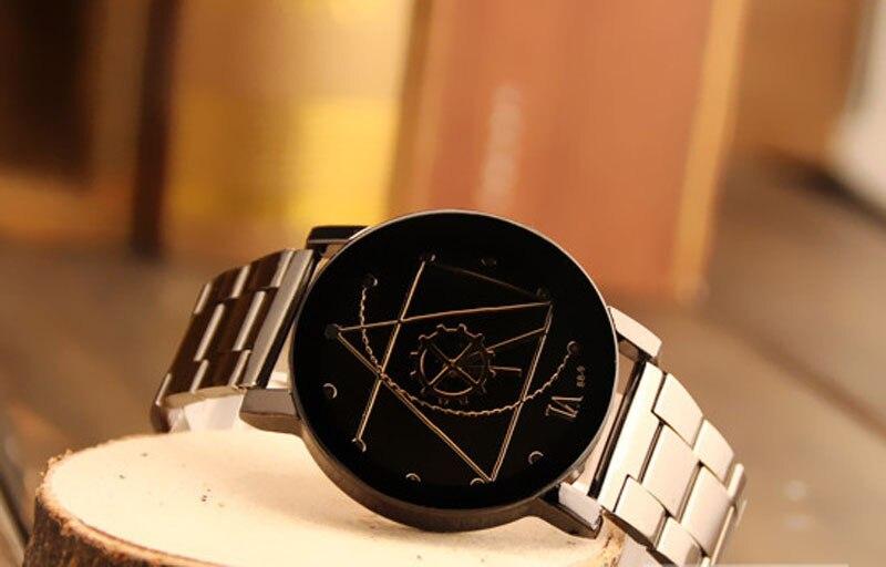 par para homens e mulheres, relógio de aço inoxidável de marca