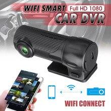 HD 1080 p Car Dashcam Nascosta WIFI Dell'automobile DVR Cancelliere 170 Gradi Mini Car Registratore di Guida del Precipitare Della Macchina Fotografica di Visione Notturna 360 di Rotazione