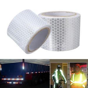 "Image 1 - 2 ""× 3メートル銀白色反射安全警告ジャケットテープハニカム環境フィルム材料交通安全"