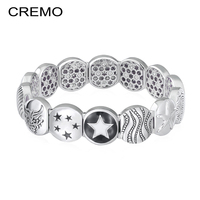 Cremo Elastic Star Bracelet Interchangeable Inventive Modular Links Charms Bracelet Enamel Seastar Bracelets Indian Jewelry