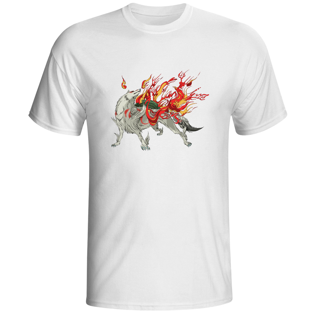 Fashion Unique Classic Cotton Men Amaterasu T Shirt Video Game Style Design Punk Print Funny Brand Unisex Tee