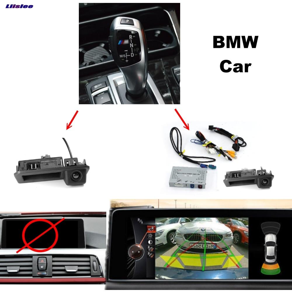 Liislee Parking interface de caméra D'origine Mise À Jour de L'affichage de Recul Kits Pour BMW 1 2 3 4 5 7 MINI X1 x3 X5 CIC NBT EVO