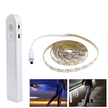 5V PIR Motion Sensor USB LED Strip Light Waterproof LED Under Cabinet Light 2835SMD 1M/2M/3M Motion Sensor Closet Wall Lamp pir motion sensor battery led strip light 3528 waterproof bed cabinet closet light 1m 2m 3m 5v usb led strip lamp tv backlight