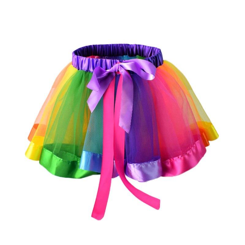 2018 Summer Girls Skirts Baby Kids Girl Tutu Skirt Children With Colorful Rainbow Performance Skirt 1 Piece New