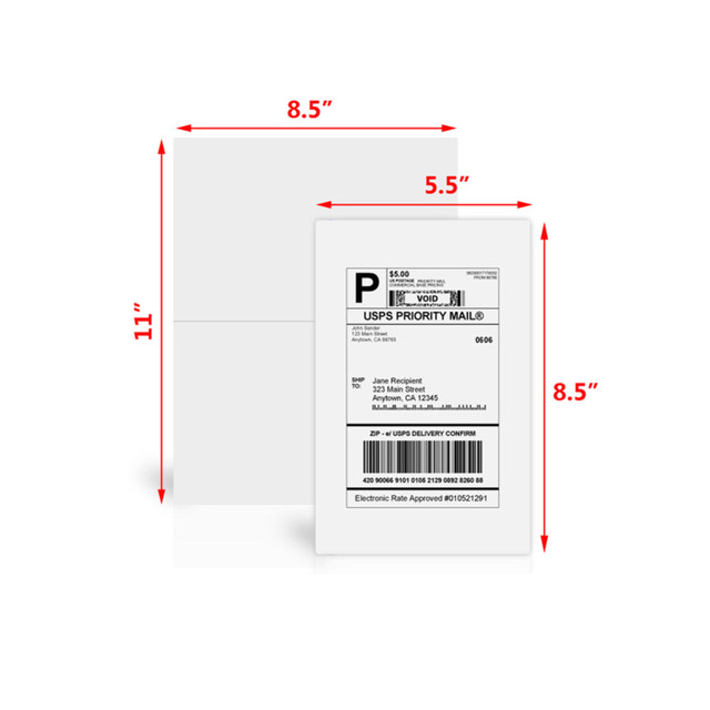 Print a Label USPS Priority Mail shipping label