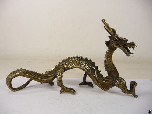 Crafts statue collectible old china handwork superb copper carved vivid dragon statue halloweenCrafts statue collectible old china handwork superb copper carved vivid dragon statue halloween
