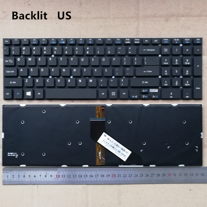 US Backlight new laptop keyboard for Acer Aspire V17 Nitro VN7-791 VN7-791G ES1-531 ES1-731G ES1-520 ES1-521 5830 5755 V3-571G kingsener new ac14a8l laptop battery for acer aspire vn7 571 vn7 571g vn7 591 vn7 591g vn7 791g kt 0030g 001 11 4v 4605mah