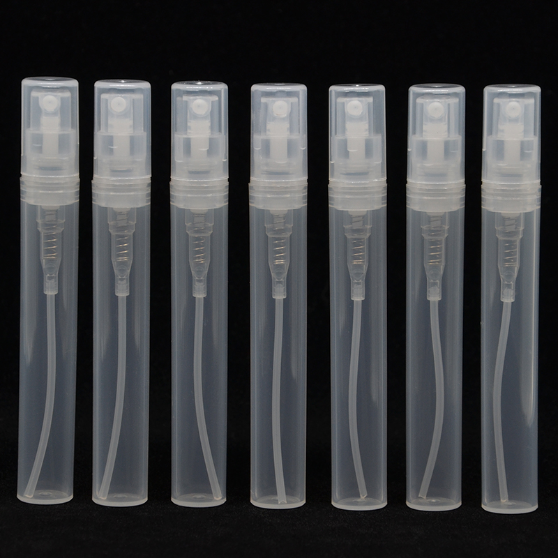 High Quality 100pcs 5ml Mini Small Clear White Empty Plastic Sample Perfume Spray Bottles Containers Sample Bottle