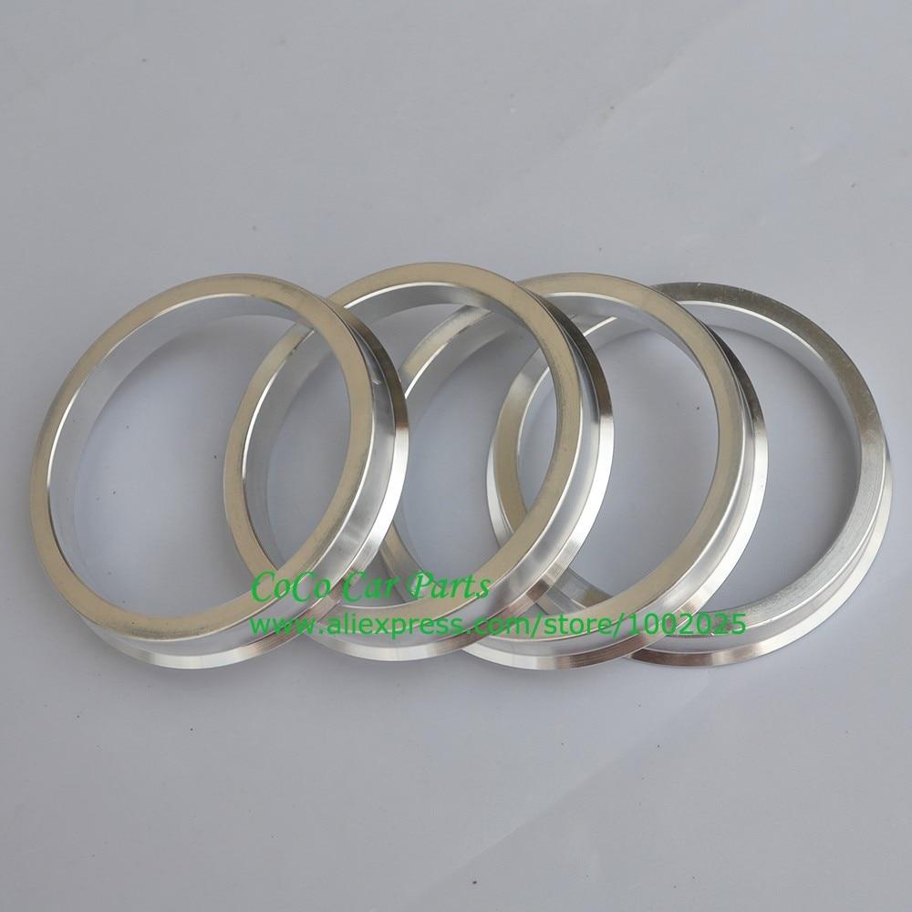4pc Aluminum Hubrings 67.1mm Car Hub to 69.85mm Wheel Bore ID 67.1 OD 69.85