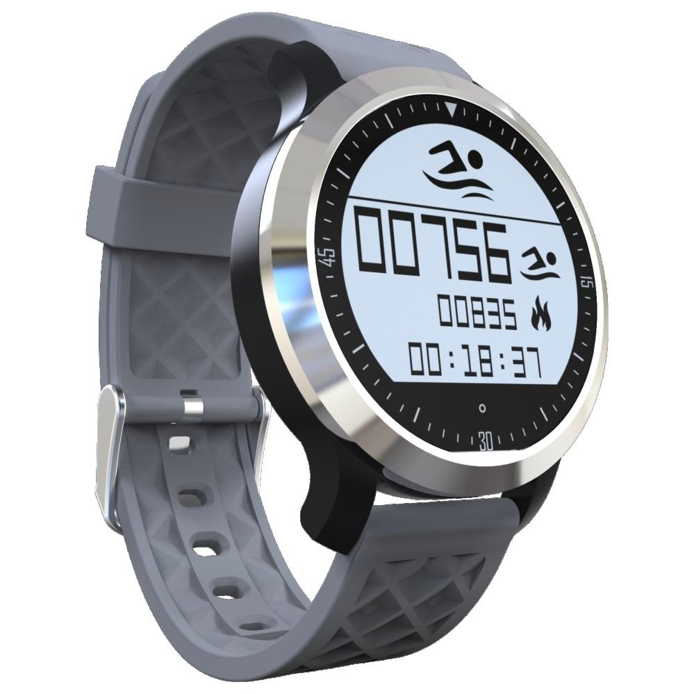imágenes para F69 Reloj Inteligente para la Natación Reloj Monitor de Ritmo Cardíaco Podómetro Smartwatch para Android y iOS Teléfono IP68 Resistente Al Agua