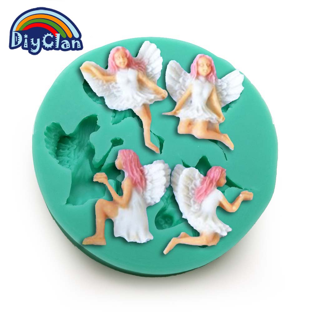 ộ_ộ ༽New Angel Elf fondant molds cake decorating tools fairy jelly ...
