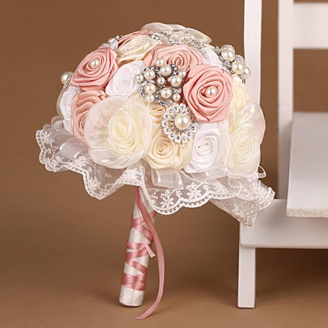Высокое качество 2016 индивидуальные свадебное YIYI букет с перл из бисера брошь нью-романтический свадебный красочные невеста букет WD031