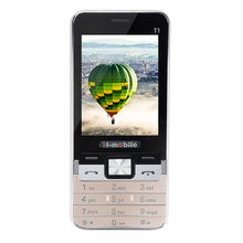 H-Mobile T1 Phone with Dual SIM Card Bluetooth Flashlight MP3 MP4 FM Camera2.8 inch CheapPhone (Free add Russian Keyboard)