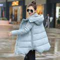 Winter Jacket Women 2017 White Duck Down Long Coat Parkas Thickening Female Warm Clothes High Quality Loose Hooded Overcoat Y166