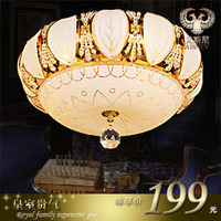 2017 Limited Special Offer Green Yellow No 220v Ac Abajur Led Ceiling Light Luxury Quality Crystal