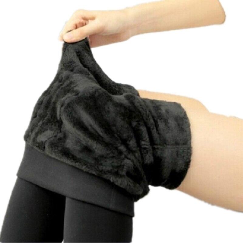 Women winter plus thick velvet Warm Leggings fleece legging pants seamlessly integrated inverted cashmere leggings women A0233