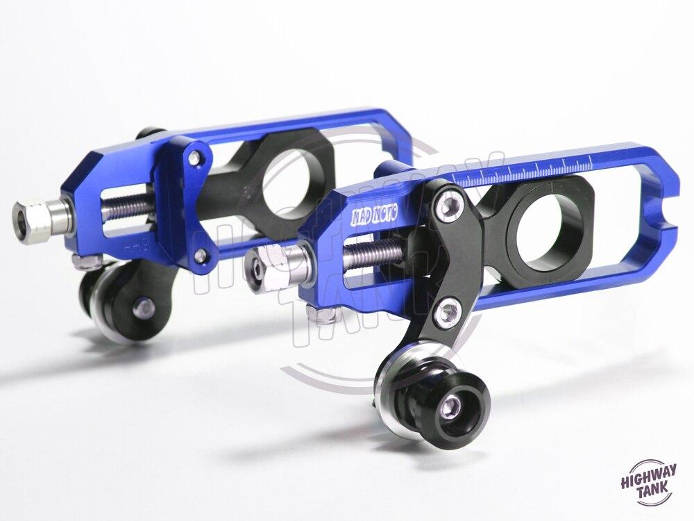 Бесплатная доставка алюминиевый мотоциклов Chain настройщик чехол для Кавасаки ZX-10r с 2011-2014 12 13 цепь передачи регулятора 4 Коло