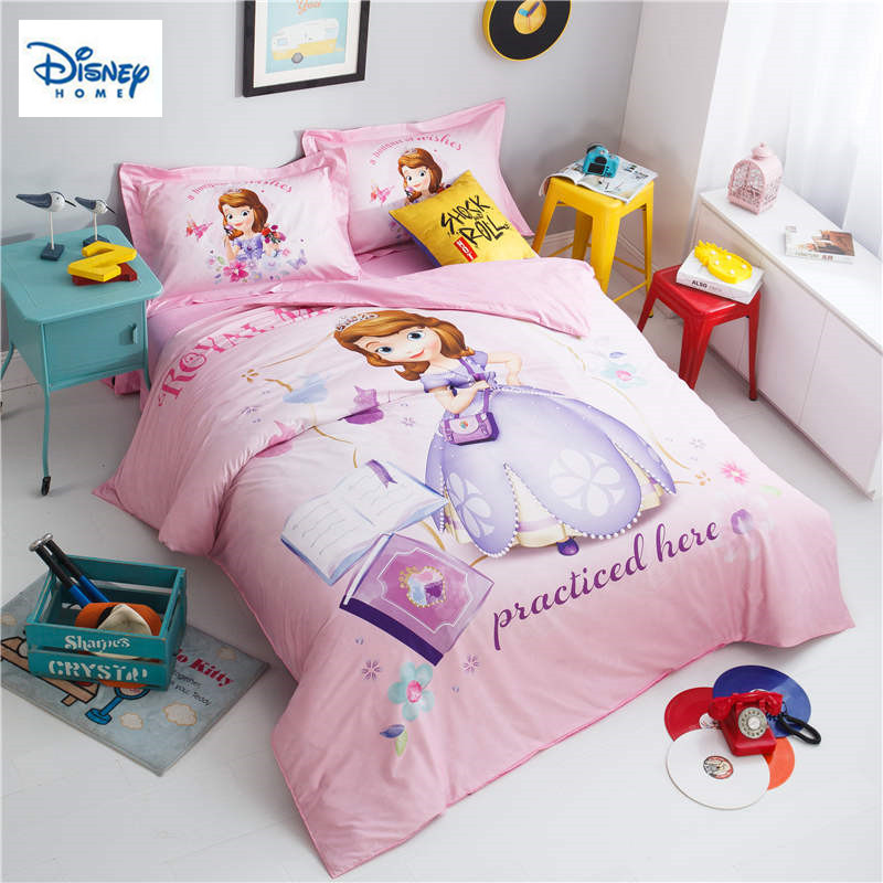 princess sofia comforter bedding sets for girls bedroom decor twin size duvet cover queen bed sheets cotton bedclothes kids home