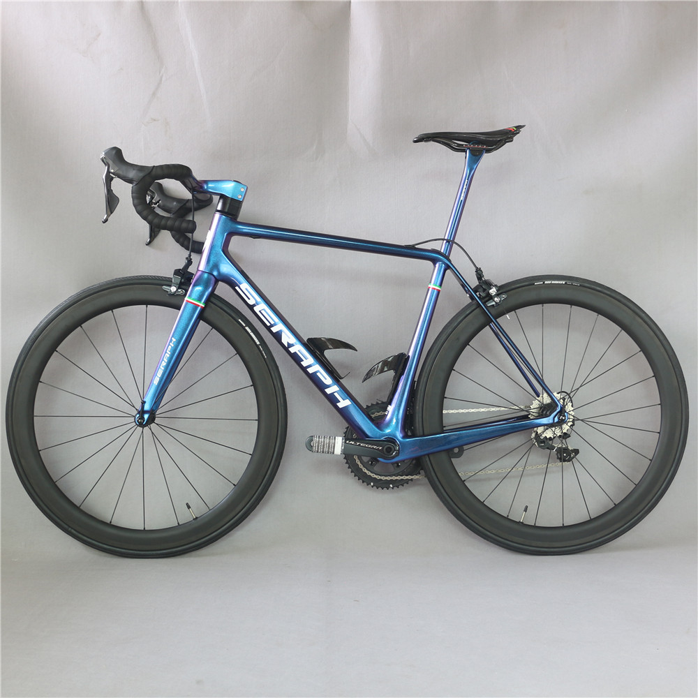 Superlight carbon road complete bike FM629 toray carbon fiber t800 22 speed with Shimao R8000 groupset  chameleon paint bicycle